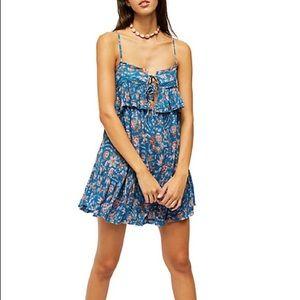 skylar + Madison Floral Blue Dress